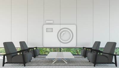 Image: Modern salon intérieur style minimaliste avec limage en noir
