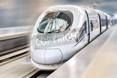 Image Moderne Train de voyageurs Salut-Vitesse. Effet de mouvement.