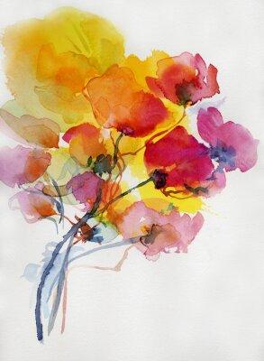Image Mohnblumen malerei aquarell