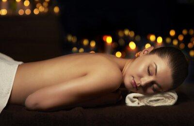 Image Moitié, nu, femme, reposer, après, massage