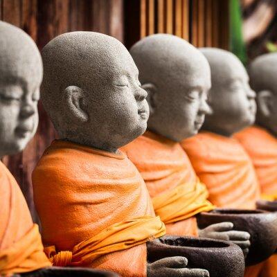 Image Monk, statue, tenue, bol
