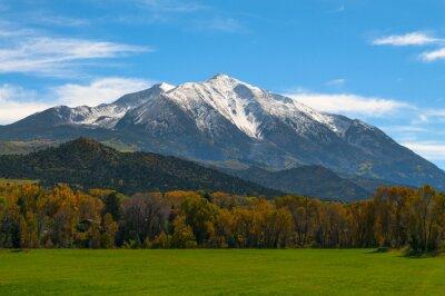 Image Mont Sopris Elk Mountains Colorado - Couleurs d'automne