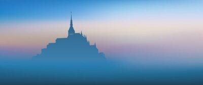 Image Mont St Michel - panoramique - Aube
