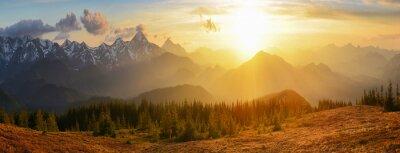 Image Montagnes Coucher de soleil