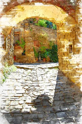 Image Montefioralle, one of the most beautiful villages of Tuscany, Italy