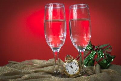 Montre de poche et lunettes pour la nouvelle année