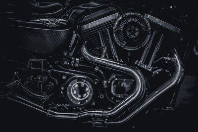 Image Moteur moteur moteur échappement art photographie en noir et blanc vintage tonalité