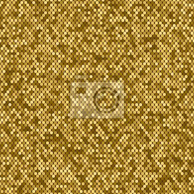 Image Motif Abstrait Transparent De Mosaïque Dorée Feuilles En Paillettes