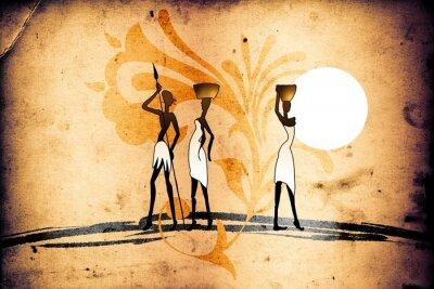 Image motif africain rétro ethnique