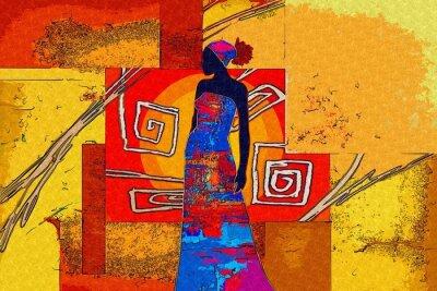 Image motif africain vintage rétro ethnique