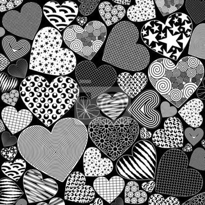 Image Motif Amour Coeurs Art Doodle