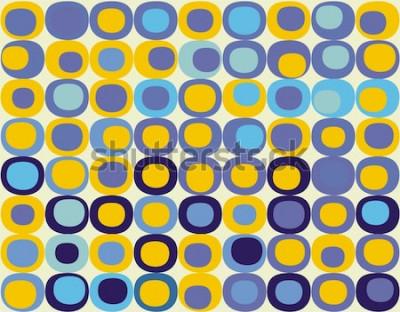 Image Motif carré sans couture rétro
