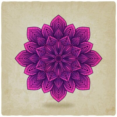 Image motif circulaire mandala vieux fond