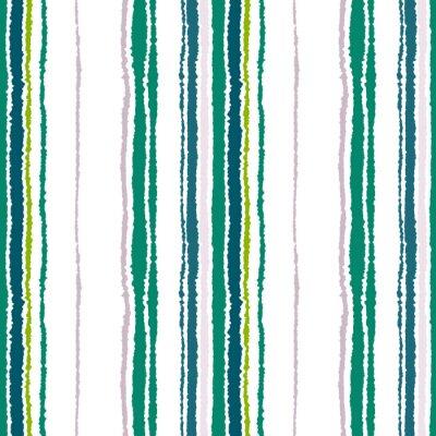 Image Motif de bande sans couture. Lignes verticales avec effet papier déchiré. Briser le fond du bord. Contraste clair et gris foncé, olive, vert sur blanc. Vecteur