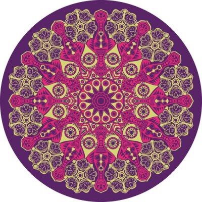 Image motif de dentelle ronde ornementale, cercle fond avec de nombreux detai