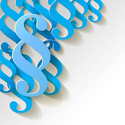 Image motif de papier de la clause fond bleu