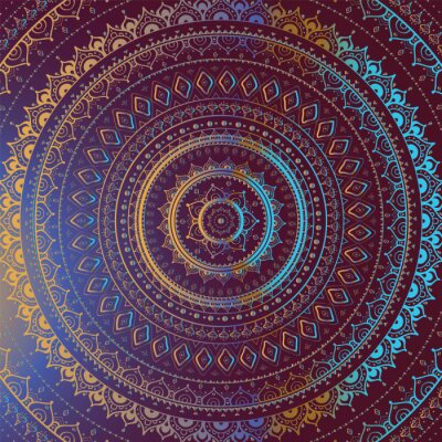 Image Motif décoratif indien.