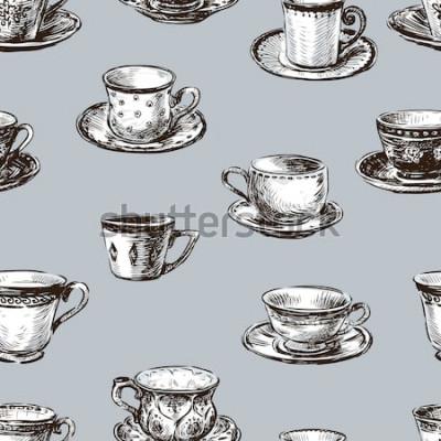 Image motif des tasses à thé