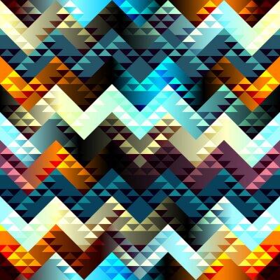 Image Motif en Aztèques de style sur fond chevron.