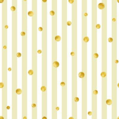 Image Motif sans soudure avec des cercles dorés peints à la main. Modèle de point de polka d'or