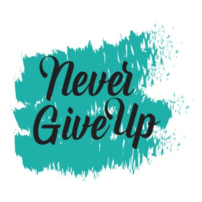 Image Motivational quotes. Never Give Up