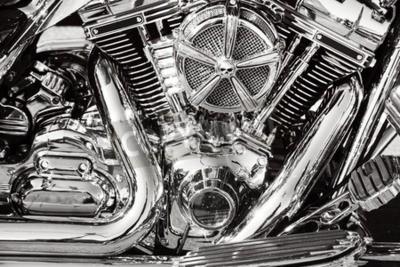 Image Moto avec pièces chromées