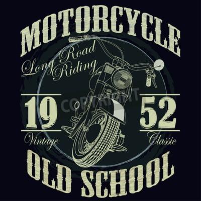 Image Motorcycle Racing Typography Graphics. Vieux vélo scolaire. T-shirt Design, illustration vectorielle