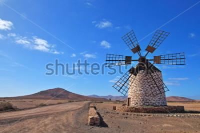Image Moulin à vent à Fuerteventura, îles Canaries, Espagne