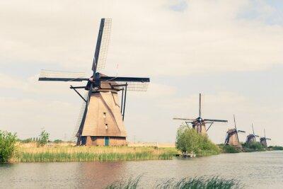 Image Moulins à vent traditionnels Pays-Bas
