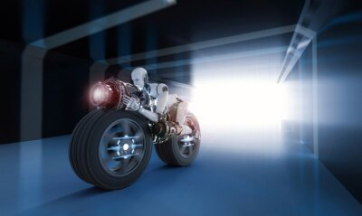 Image mouvement de la vitesse du robot