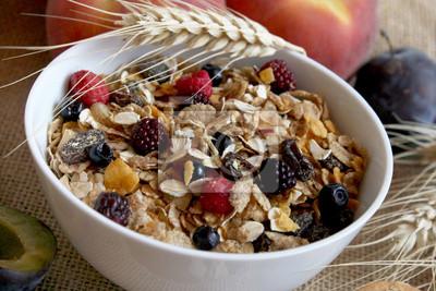 muesli petit déjeuner riche en fibres