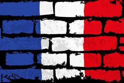 Image mur flaga francji WEKTOR