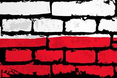 Image mur flaga polska WEKTOR