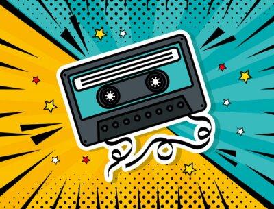 Image music cassette pop art style vector illustration design
