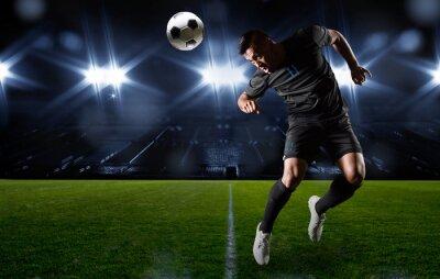 Image N hispanique Joueur de football la balle