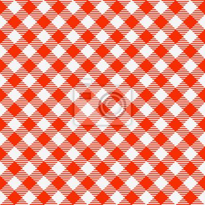 nappe à carreaux transparente rouge et blanc. traditionnel, guingan