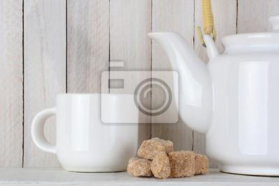 Natural cubes de sucre et de thé