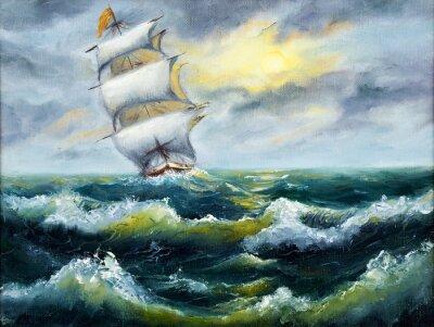 Image Navire dans l'océan