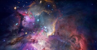 Image Nebula and galaxies in space. Abstract cosmos background
