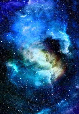 Image Nébuleuse, espace, étoiles, bleu, cosmique, résumé, fond Éléments de cette image fournis par la NASA.