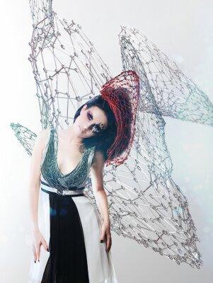 Image net femme en robe monochrome
