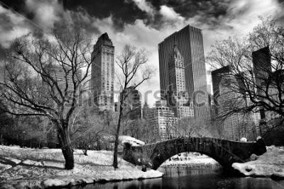 Image New York City - Central Park in winter -Gapstow bridge