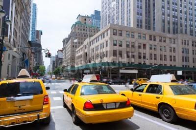 Image New York City Manhattan Fifth Avenue 5e Av taxi jaune US