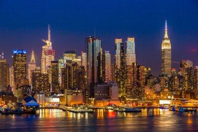 Image New York City Manhattan midtown buildings skyline night