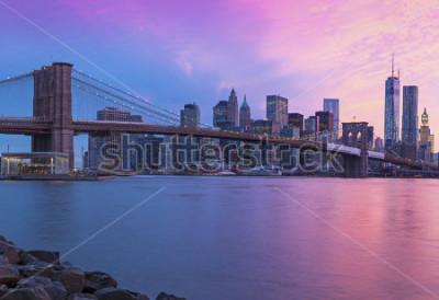 Image New York City Manhattan panorama at sunset