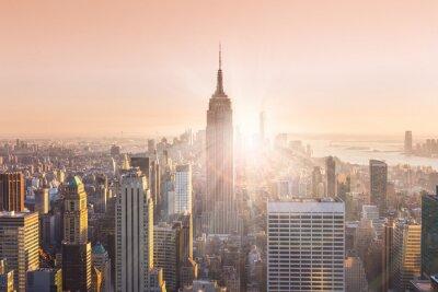 Image New York, ville, Manhattan, Horizon, Coucher soleil.