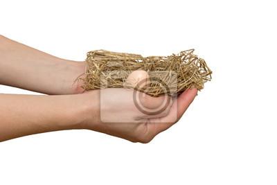 nichent dans les mains de