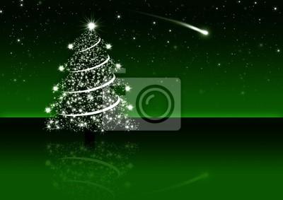 Night Sky avec Shooting Star et arbre de Noël