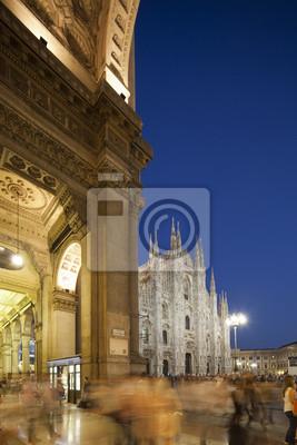 nigt à Piazza del Duomo à Milan, Italie