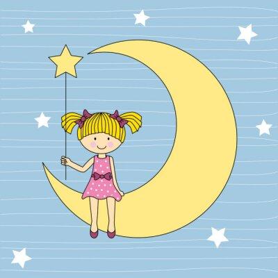 Image Niña en la luna sentada